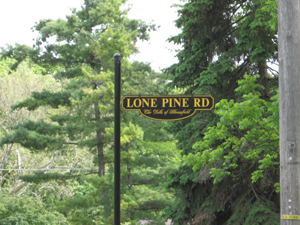 Bloomfield Township Lone Pine Road Sign